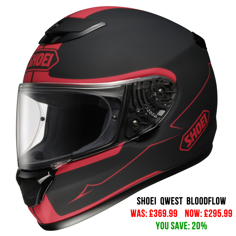 Shoei Qwest Bloodflow Motorcycle Helmet