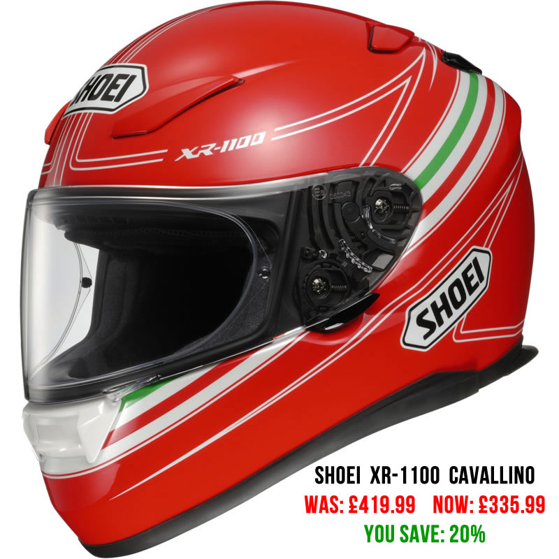 Shoei XR-1100 Cavallino Motorcycle Helmet