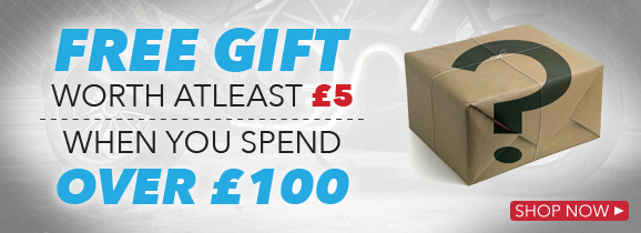 Spend over £100 get free gift 2