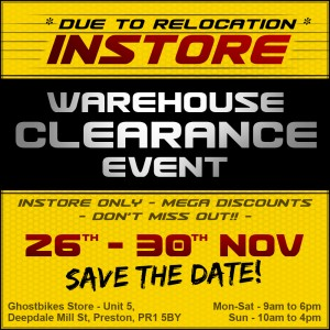 Ghostbikes Warehouse Clearance Event