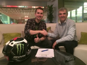 Jorge Lorenzo and Shark Helmets Moto GP Partnership…