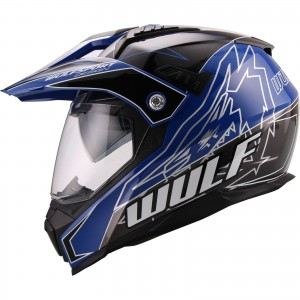 The Wulf Prima X Dual Sport Helmet