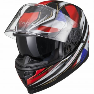 The Black Titan SV Motorcycle Helmet