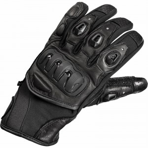 The Black Spike Leather Motorcycle Gloves