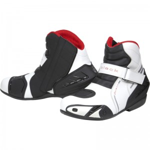 Black-Circuit-Short-Ankle-Motorcycle-Boot-White-1
