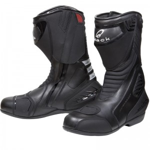 The Black Strike Waterproof Motorcycle Boots
