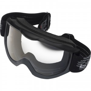 The Black Granite Motocross Goggles