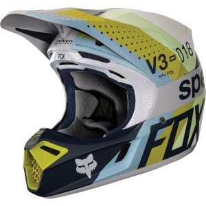 The Fox Racing V3 Motocross Helmet