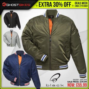 DEALS WEEK – EXTRA 30% OFF BLACK ICONIC JACKET usually £79.99 now £55.99