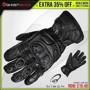 DEALS WEEK – EXTRA 35% OFF BLACK TRACK GLOVES usually £29.99 now £19.49