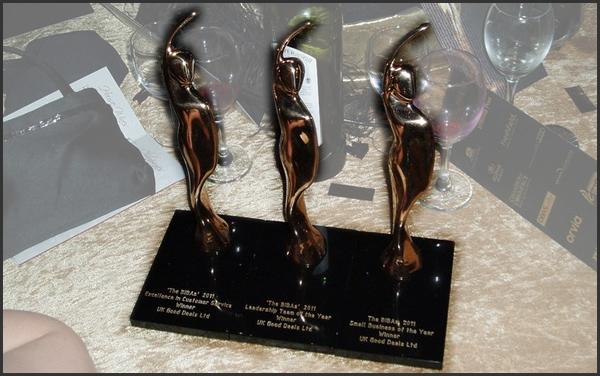 BIBA winner trophies