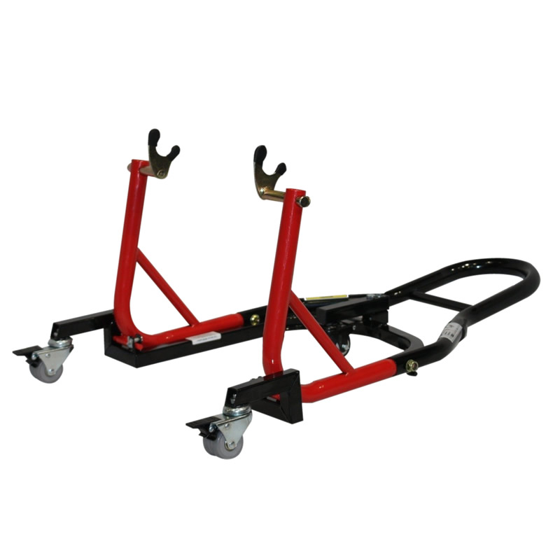 Black Pro Range Floating Trolley & Rear Paddock Stand