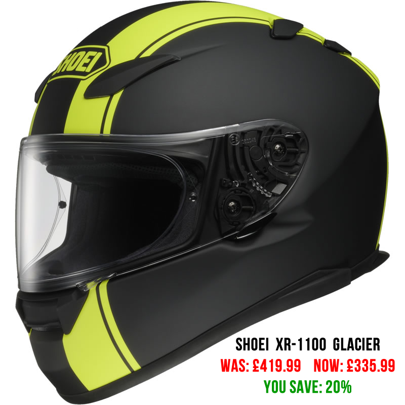 Shoei XR-1100 Glacier Motorcycle Helmet