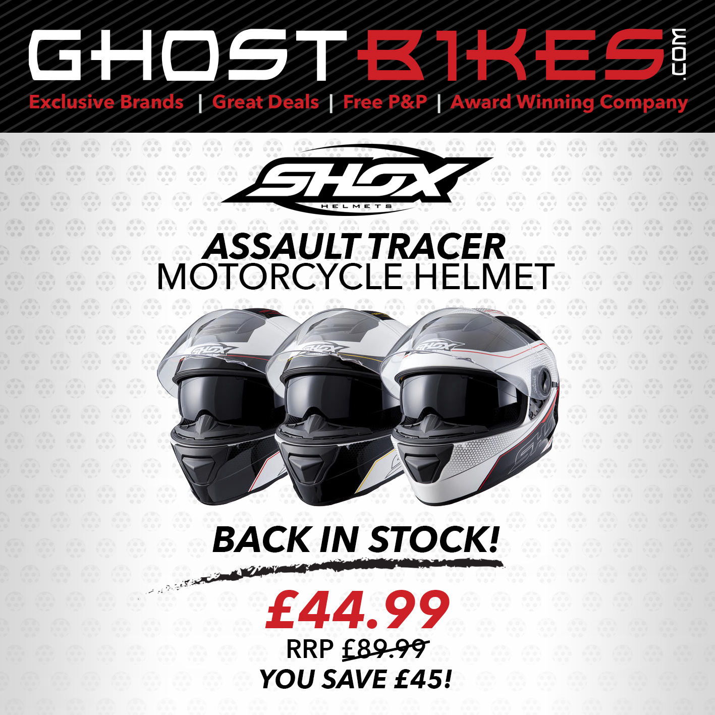 Shox Assault tracer motorcycle Helmet