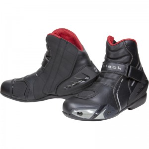 The Black Circuit Motorcycle Boots