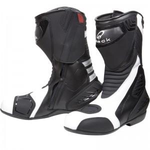 Black-Strike-Waterproof-Motorcycle-Boot-White-1