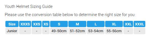 Jurnior Size Guide