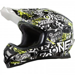The Oneal 3 Series Attack MX Helmet