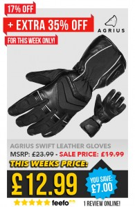DEALS WEEK – EXTRA 35% OFF AGRIUS SWIFT GLOVES usually £19.99 now £12.99