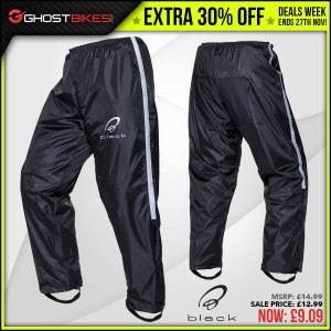 DEALS WEEK – EXTRA 13% OFF BLACK SPECTRE OVERTROUSERS usually £12.99 now £9.09