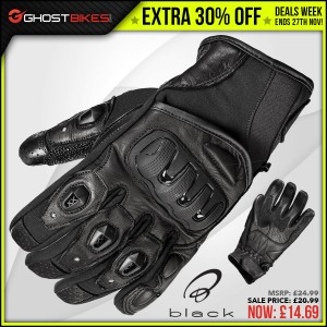 DEALS WEEK – EXTRA 30% OFF BLACK SPIKE GLOVES usually £20.99 now £14.69