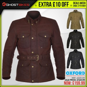 DEALS WEEK – EXTRA £10 OFF OXFORD BRADWELL JACKET usually £169.99 now £159.99