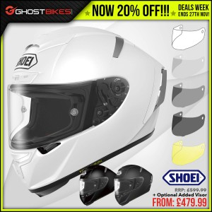 DEALS WEEK – 20% OFF SHOEI RYD, X-SPIRIT 3 & NXR FLAGGER!