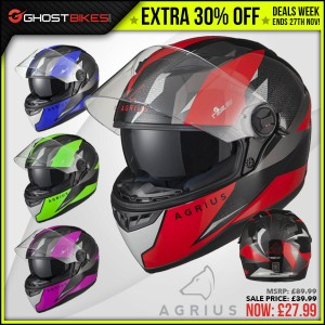 DEALS WEEK – EXTRA 30% OFF AGRIUS RAGE SV FUSION HELMET usually £39.99 now £27.99