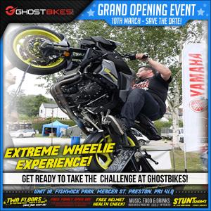 Grand Opening! Extreme Wheelie!